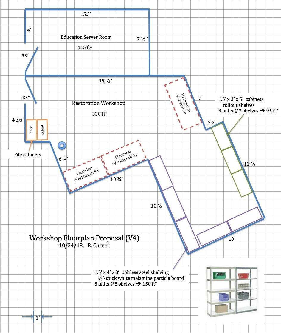1401restoration Chm 120v 2 Sd Motor Wiring Diagram Schematic Today After Being In The Now Open Altered Workshop Discussing Options And Measuring New Wall Dimensions Attached Is Resulting Proposed Floor